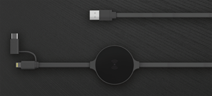 2-Device Wireless Charging Cable