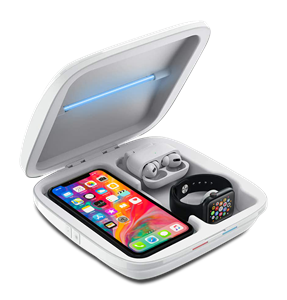 4-in-1 UV Smartphone Sanitizer with Qi Wireless Charger